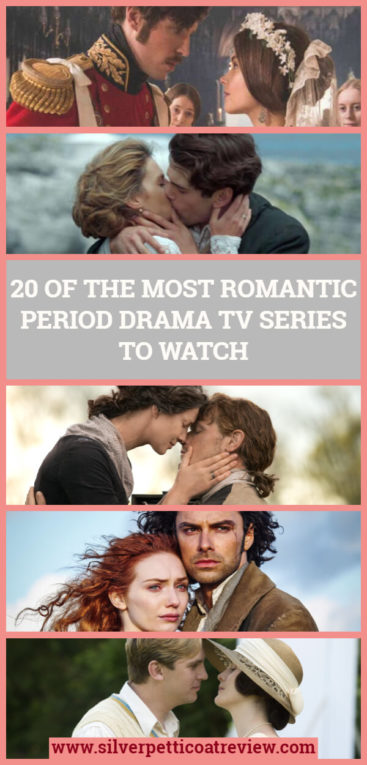 We rounded up a list of 20 of the most romantic period drama TV series to watch. From Downton Abbey to Poldark, Victoria, Grand Hotel, and more. Check it out and find some new shows to watch. #PeriodDramas #NetflixSeries #AmazonPrime #DowntonAbbey #Outlander