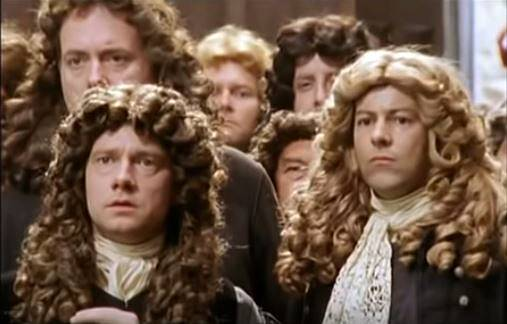 Charles II screenshot. Rupert Graves and Martin Freeman in the image.