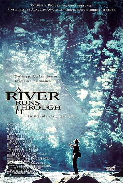 A River Runs Through it Movie Poster; The 50 Best Free Period Dramas to Watch on IMDB TV