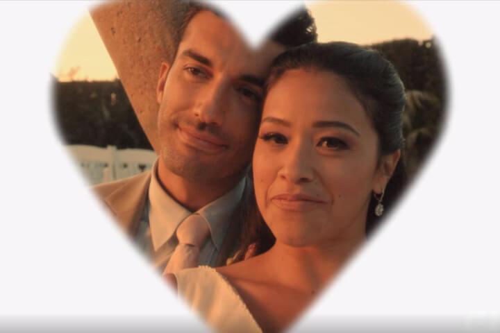 A heart around Jane and Rafael in Jane the Virgin finale.