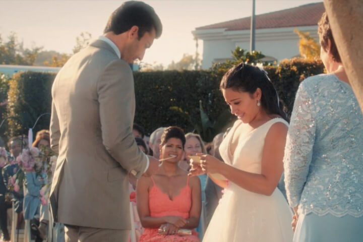 Vow exchange in Jane the Virgin.