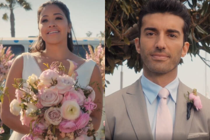 Jane and Rafael in the Jane the Virgin finale. They're about to marry.