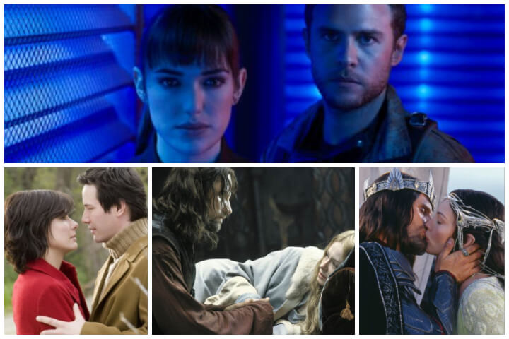 photo collage including Agents of S.H.I.E.LD. (Fitz and Simmons), The Lake House, and The Return of the King; New to Netflix September 2019