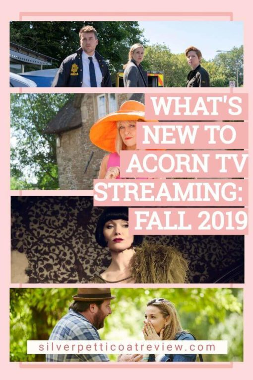What's New to Acorn TV Streaming: Fall 2019. Pinterest image.