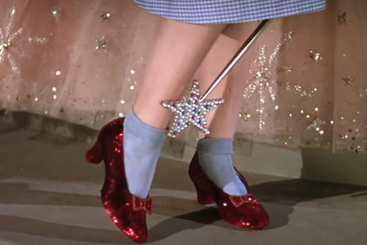 The Wizard of Oz, Wizard of Oz Life Lessons, Judy Garland, Ruby Slippers