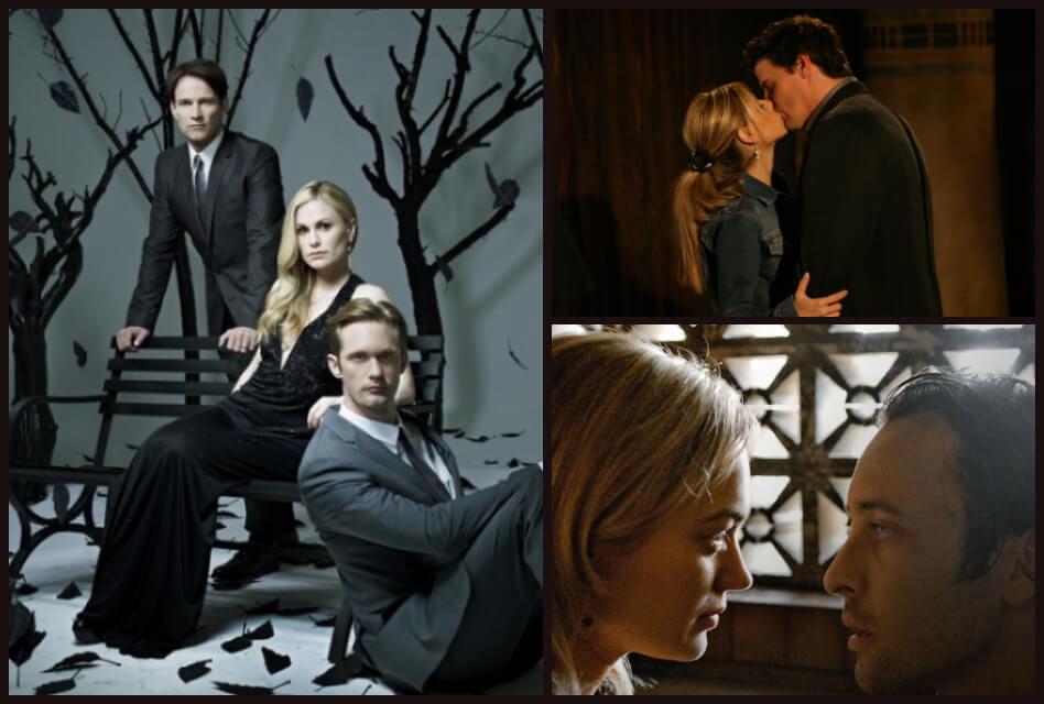 collage of romantic vampire tv shows