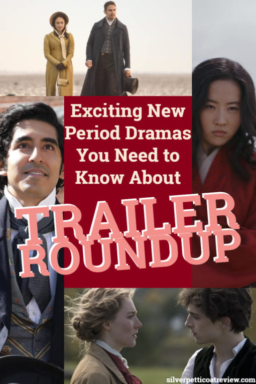 Exciting New Period Dramas You Need to Know About: Trailer Roundup; Pinterest image
