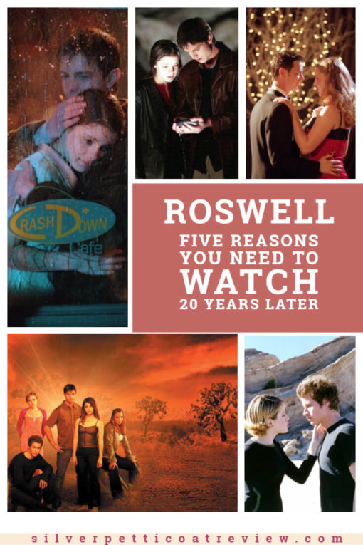 Five Reasons You Need to Watch Roswell 20 Years Later: Pinterest image