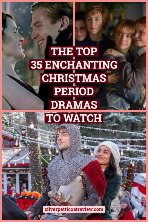The top 35 enchanting Christmas period dramas to watch: pinterest image