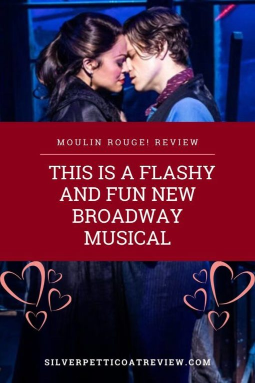 'Moulin Rouge!' Review: This is a Flashy and Fun New Broadway Musical - Pinterest image
