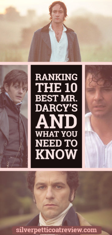 Ranking the 10 Best Mr. Darcy's and What You Need to Know: Pinterest Graphic