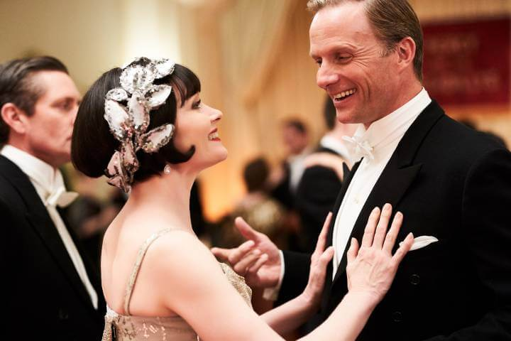 Miss Fisher and the Crypt of Tears promotional image; Rupert Penry Jones and Essie Davis