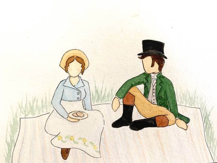 Amelia and Peter in Lakeshire Park by Megan Walker