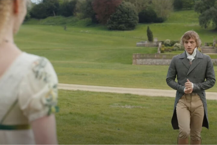 Mr. Knightley walks towards Emma