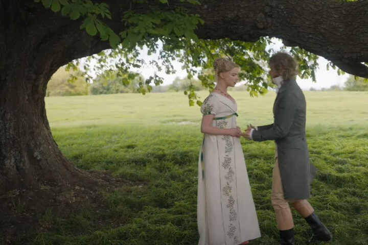 Emma and Mr Knightley proposal scene