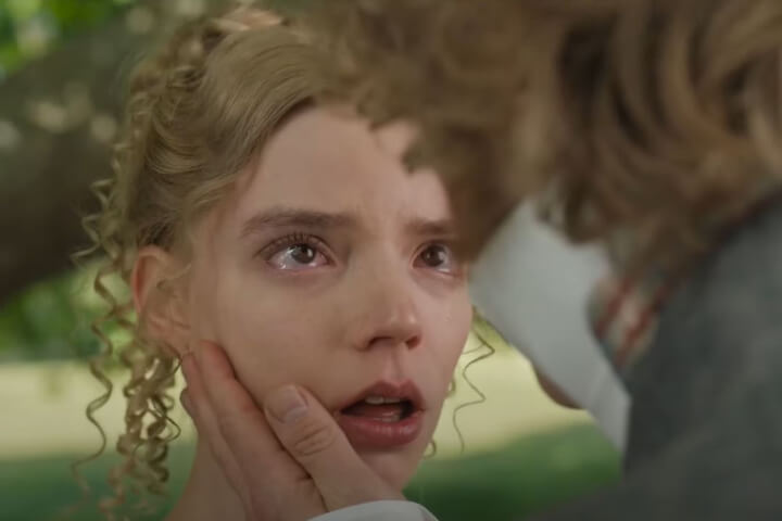 Mr Knightley touches her face
