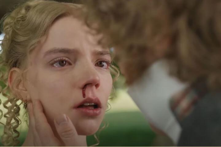 Emma's nose bleeds.