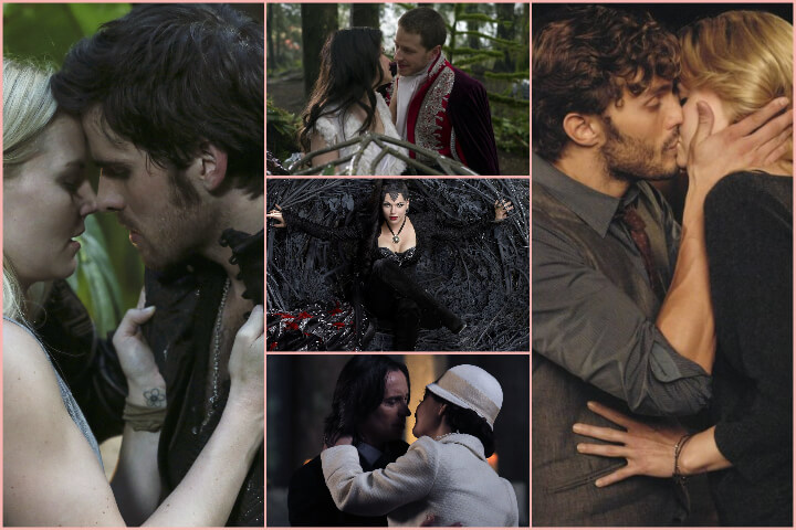 Once Upon a Time collage; romances to binge-watch
