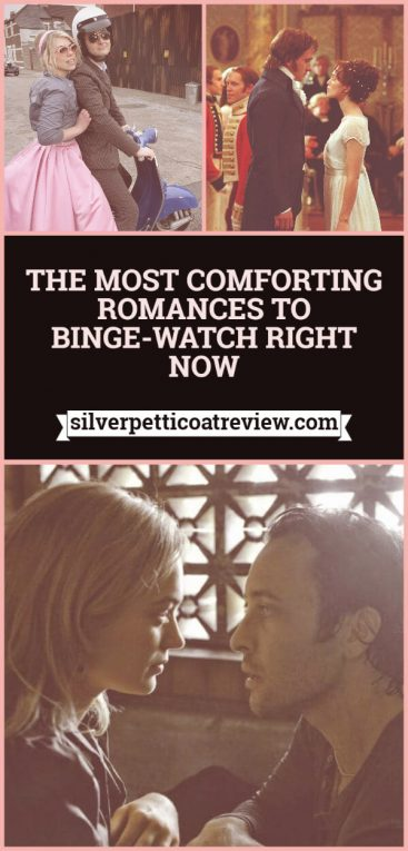 The Most Comforting Romances to Binge-Watch Right Now: Pinterest graphic