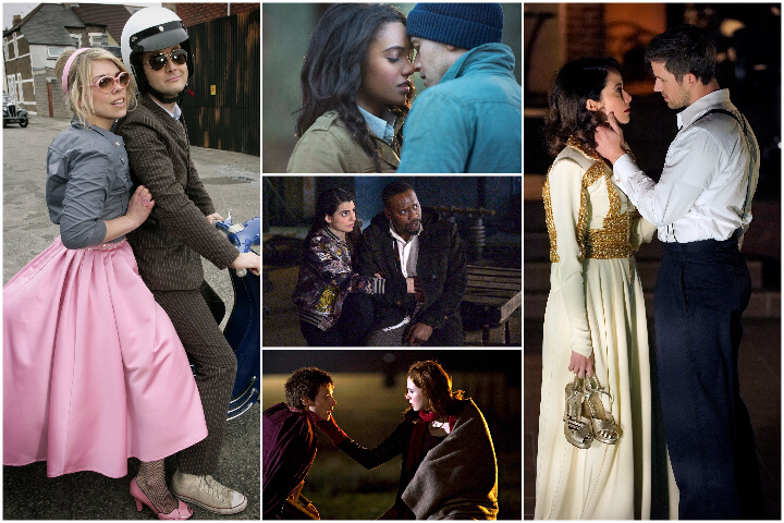 Time Travel romance tv shows collage; romances to binge-watch