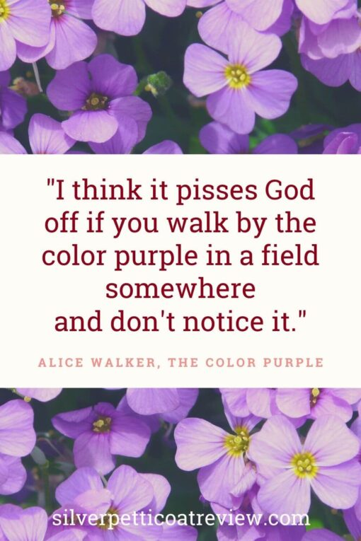Inspirational walking quote from Alice Walker's The Color Purple.