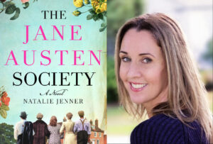 the jane austen society book cover and picture of author natalie jenner