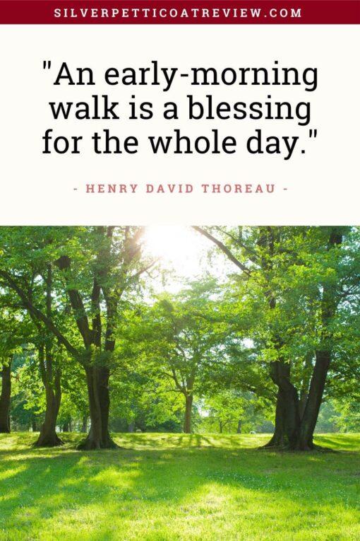 Thoreau inspirational walking quote