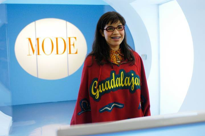 Ugly Betty promotional image; optimistic characters