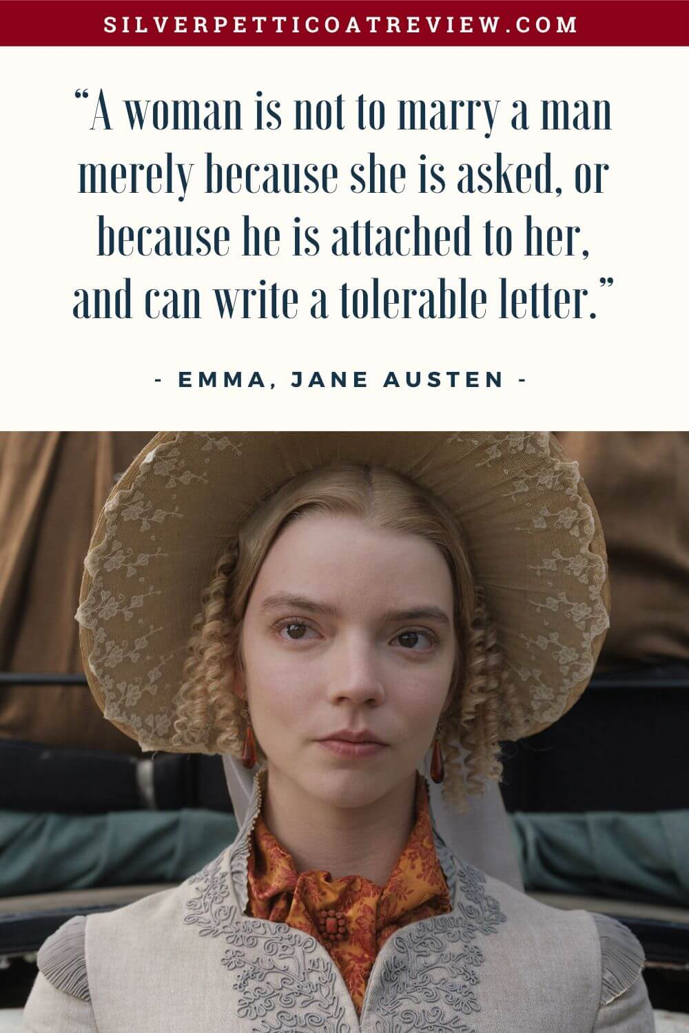 Emma quote by Jane Austen; quotes about love