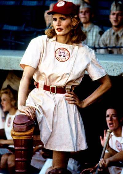 Geena Davis in A League of their own; 4th of july movies