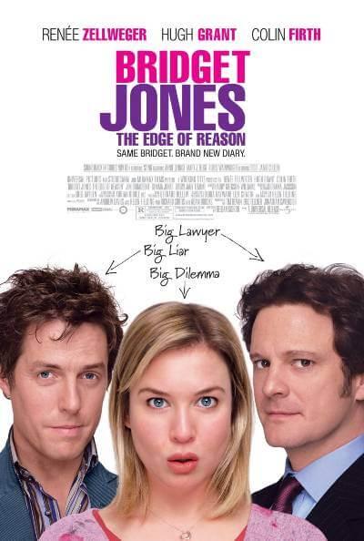 Bridget Jones: The Edge of Reason poster; jane austen movies