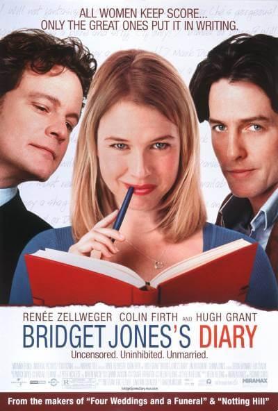 Bridget Jones's Diary poster; where to watch jane austen movies