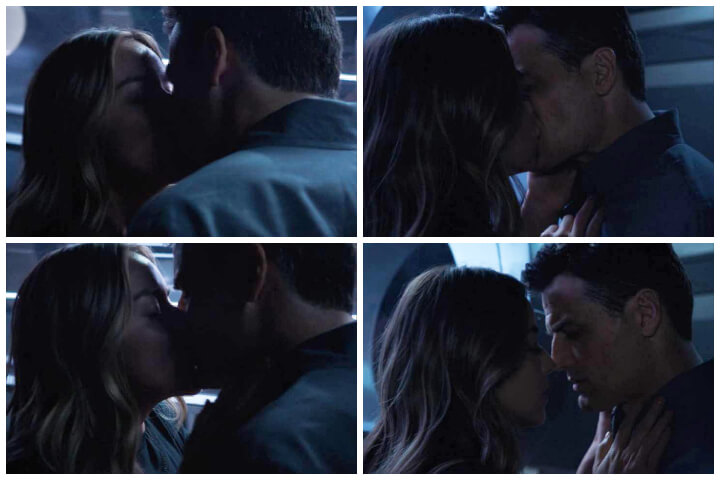 daisy johnson and daniel sousa photo; they have their first kiss