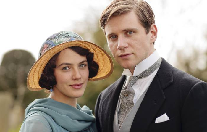 Sybil and Branson in Downton Abbey; period dramas like Poldark