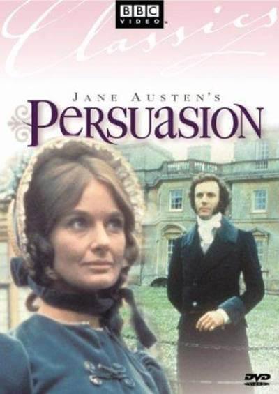 Jane Austen's Persuasion 1971 poster; where to watch jane austen movies