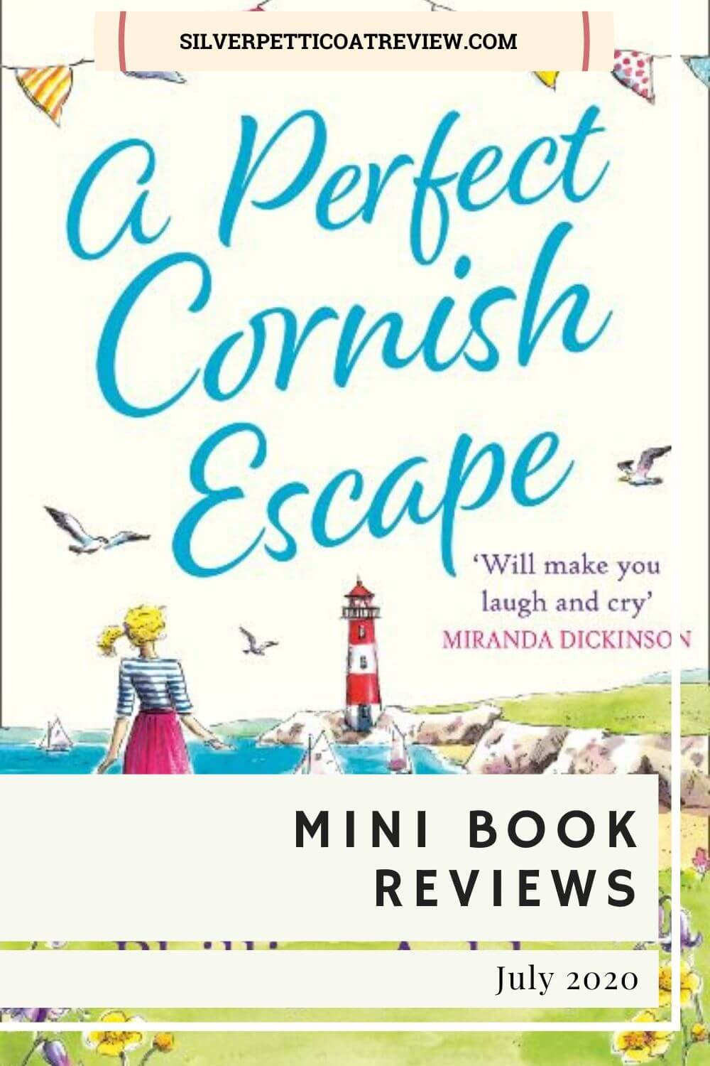 "July Mini Book Reviews: 'A Perfect Cornish Escape"" Pinterest image"