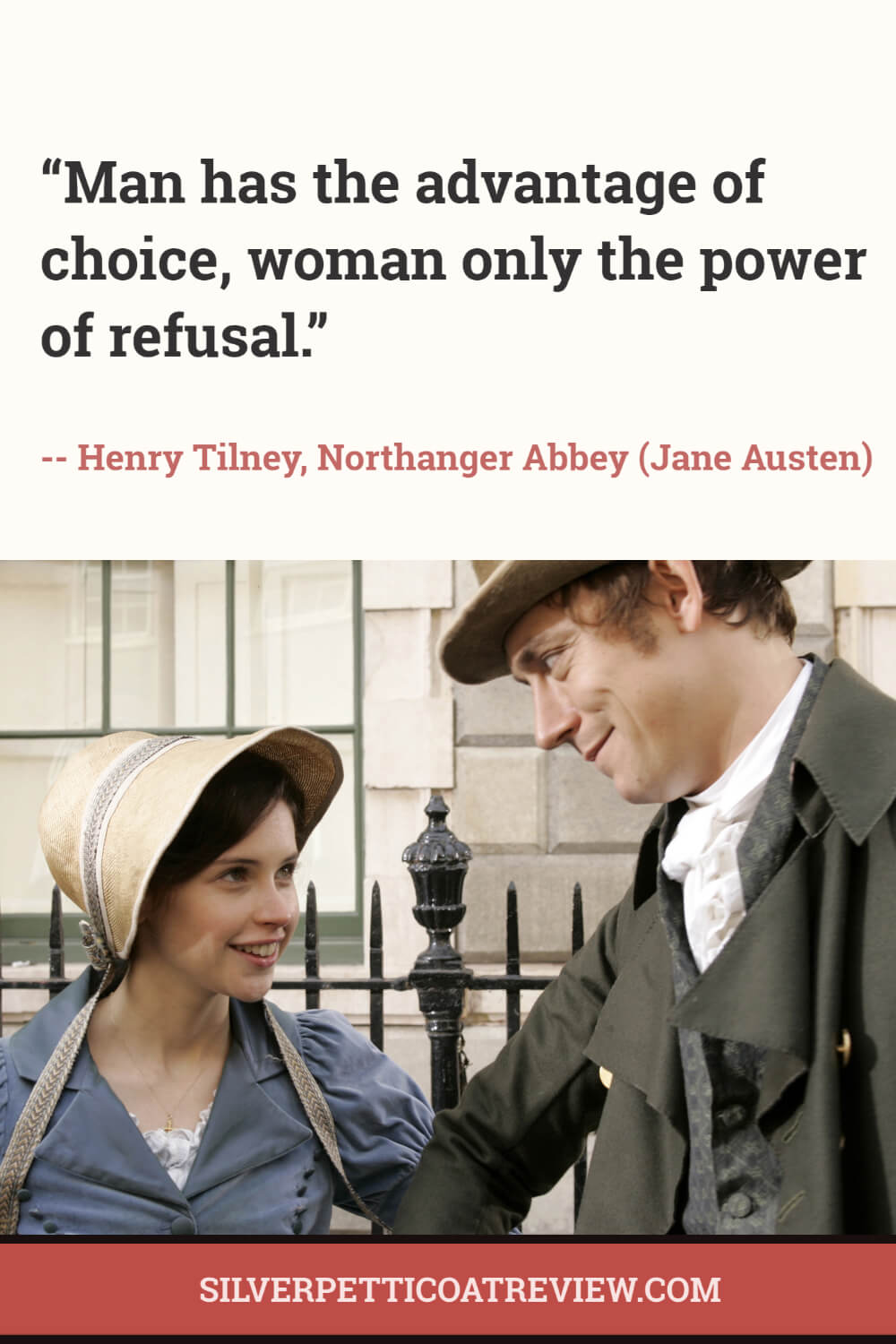 Northanger Abbey Henry Tilney quote