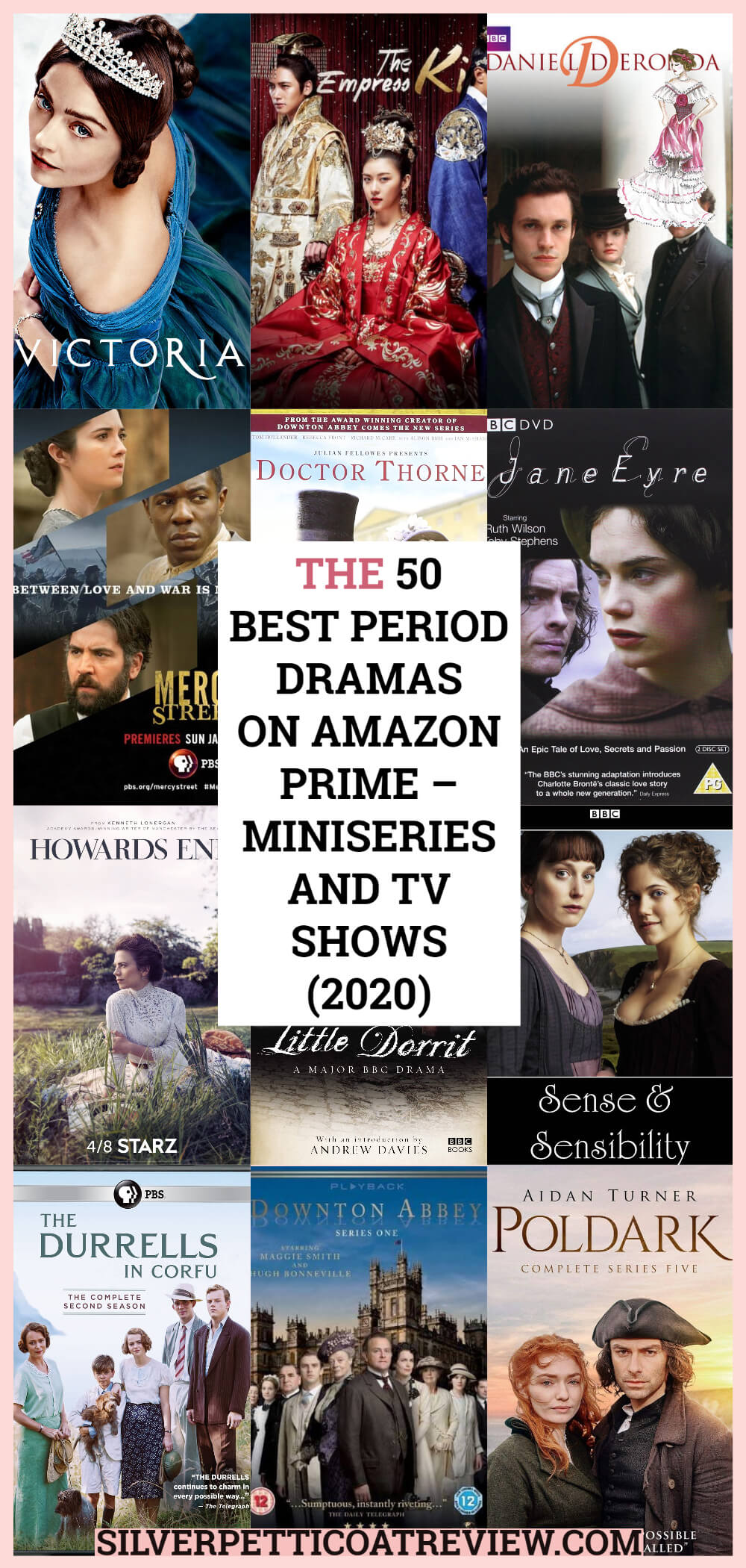 The 50 Best Period Dramas on Amazon Prime – Miniseries and TV Shows (2020) - Pinterest image