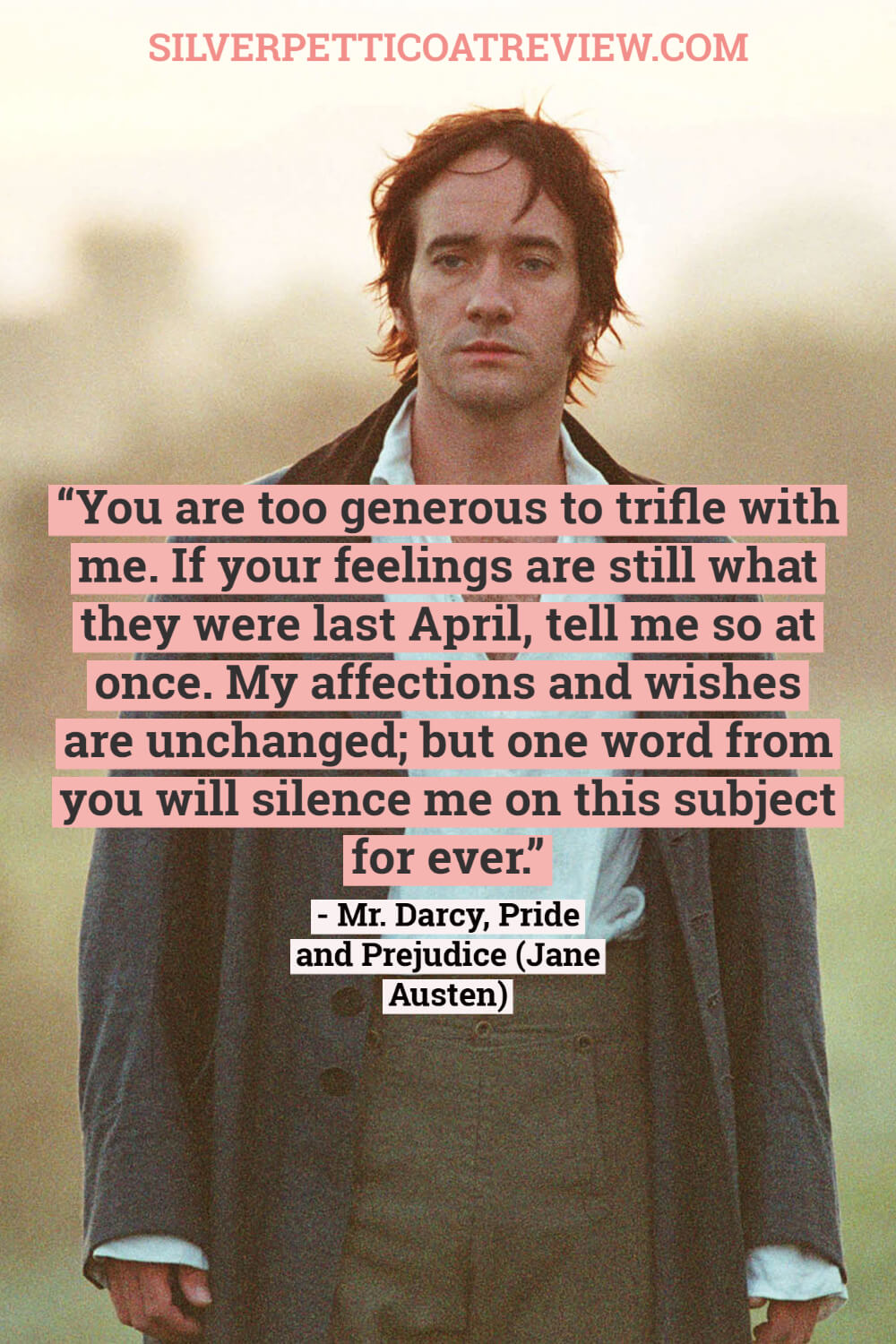 Mr. Darcy quote; jane austen quotes about love