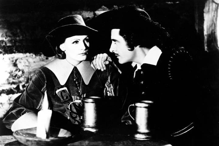 Greta Garbo and John Gilbert in Queen Christina 1933 film