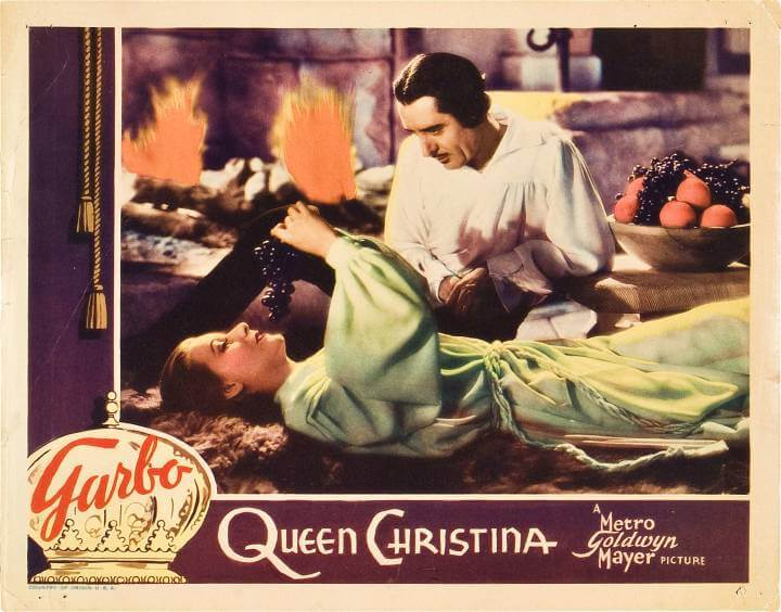 queen christina 1933; greta garbo and john gilbert