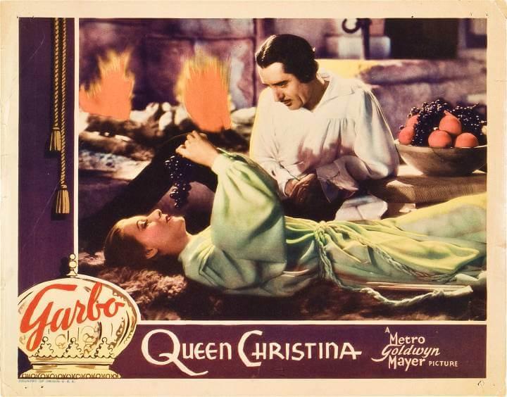 queen christina 1933; greta garbo and john gilbert