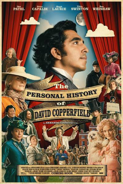 The Personal History of David Copperfield Movie Poster; best new movies and shows in August 2020