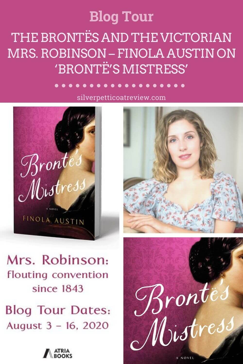 The Brontës and the Victorian Mrs. Robinson – Finola Austin On 'Brontë's Mistress' (Pinterest image)