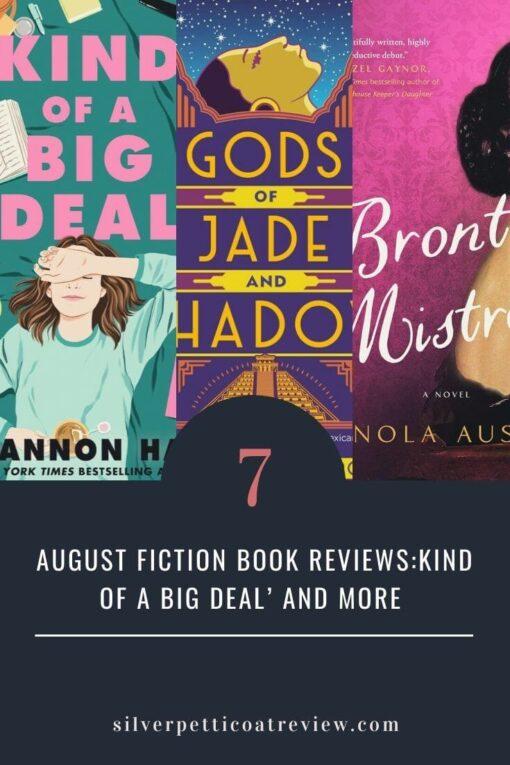 August Fiction Book Reviews Pinterest Image