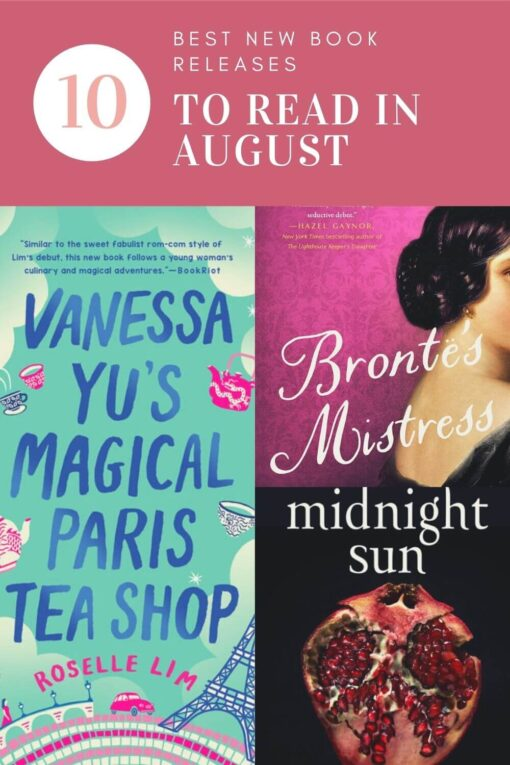 The Top Ten New Book Releases in August Pinterest Image