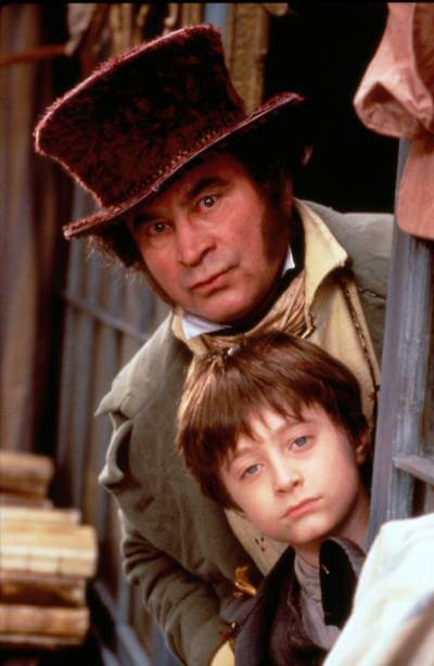 promotional image of David Copperfield with Daniel Radcliffe - best BritBox shows
