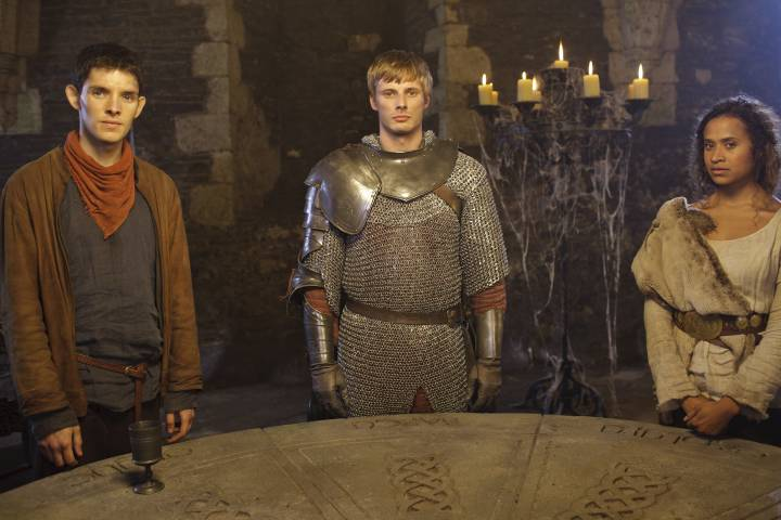 Merlin TV show; Arthur, Merlin, and Guinevere