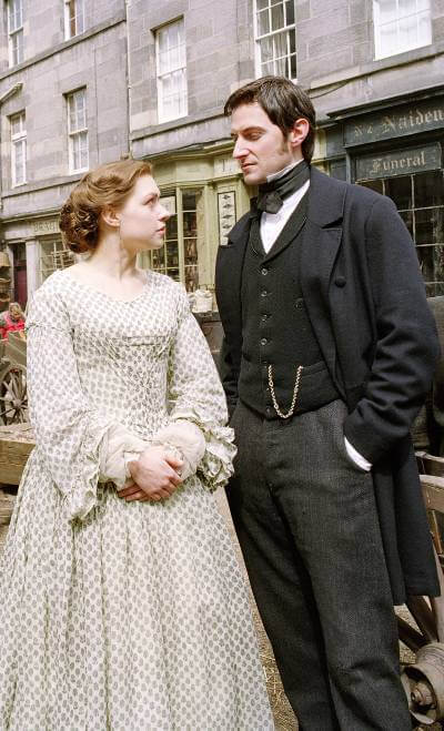 John and Margaret (Daniela Denby-Ashe and Richard Armitage) in North and South BBC.