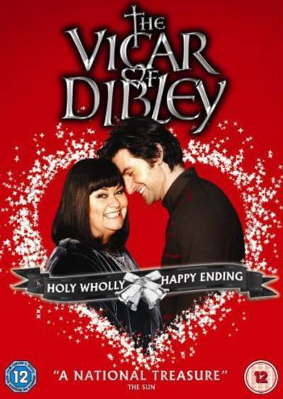 the vicar of dibley poster with dawn french and richard armitage; best britbox shows